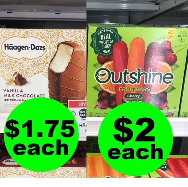 Publix Deal: 🍦 Print For $2 Outshine Fruit Bars Or $1.75 Haagen-Dazs Ice Cream Bars! (5/22-5/28 Or 5/23-5/29)