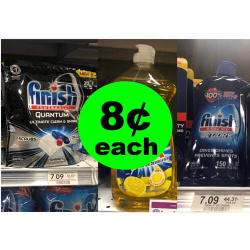 Publix Deal: For Just 40¢, Get 4 Finish & 1 Ajax Dish Soap 🍽️ (Save $29)! (8/19 to 8/21-8/22)