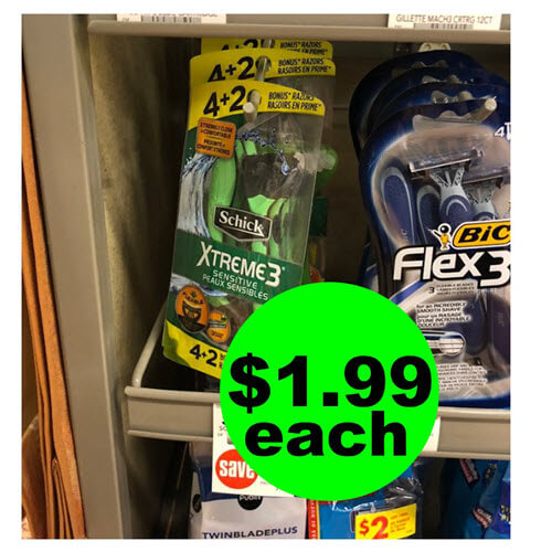 Publix Deal: 😍 $1.99 Schick Xtreme3 Disposable Razors (Save 75% Off)! (10/17-10/23 or 10/18-10/24)