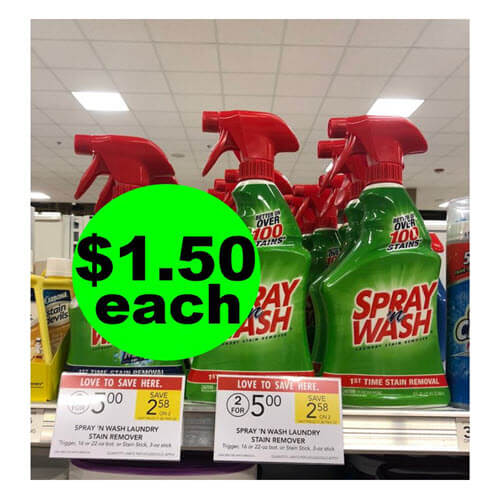Publix Deal: $1.50 Spray 'n Wash Stain Remover ? 60% Off! (9/8-9/21)