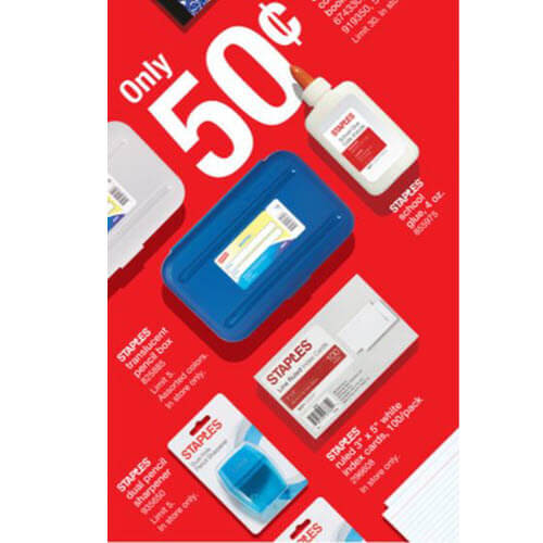 BTS Deal: 50¢ Index Cards At Staples! (8/19-8/25) 🏫 (And $10/$50 Coupon!)