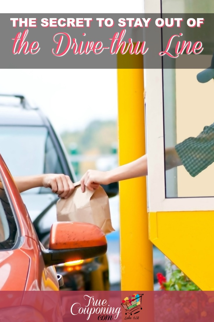 Want to save money by staying away from the Drive-Thru Line? Then these four options will help you get dinner on table with less stress! #mealplanning #savingmoney #truecouponing