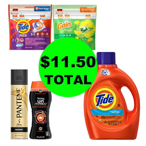 CVS Deal: 🧦 $11.50 Total For (4) Laundry Products & Pantene Styler! (11/4-11/10)