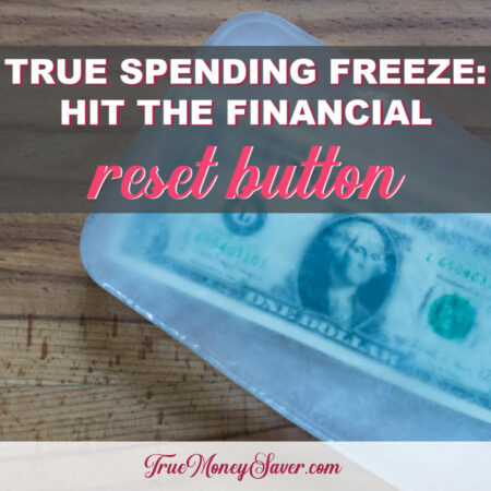 Reset Your Finances During This Month And Potentially Save $1,000 During The True Spending Freeze Challenge!