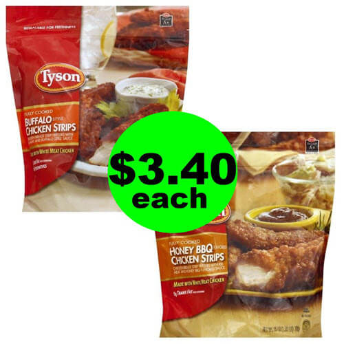 Publix Deal: ? $3.40 Tyson Chicken Strips (Save 63% Off!)! (Ends 8/21 or 8/22)