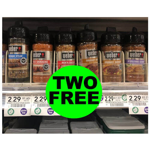 Publix Deal: (2) FREE + 21¢ Money Maker On Weber Seasonings (After Rebate)! ? (Ends 9/18 or 9/19)