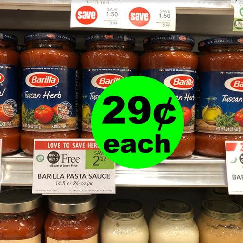 Publix Deal: 🍅 29¢ Barilla Pasta Sauce! (1/23-1/29 or 1/24-1/30)