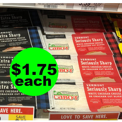Publix Deal: 🧀 $1.75 Cabot Cheese Bars Or Cracker Cuts! (Ends 9/18 or 9/19)
