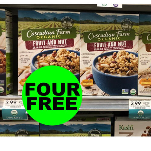 Fox TV Deal Of The Week:  4 FREE Cascadian Farm Organic Cereals (After Ibotta) Ends 9/28