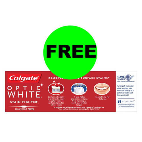 CVS Deal: 😁 FREE Colgate Optic White Toothpaste! (9/9-9/15)