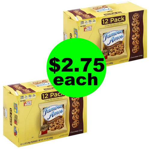 Publix Deal: ? Famous Amos, Cheez-It & Keebler Multipacks As Low As $2.75 Each! (Ends 9/25 or 9/26)