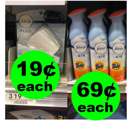 Publix Deal: 😍 Febreze Air Fresheners As Low As $.69 Each Plus $.19 Oil Plugs! (Ends 9/11 or 9/12)