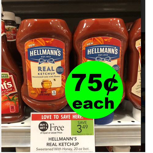 Publix Deal: 🍟 75¢ Hellmann's Real Ketchup (After Ibotta)! (Ends 9/11 or 9/12)