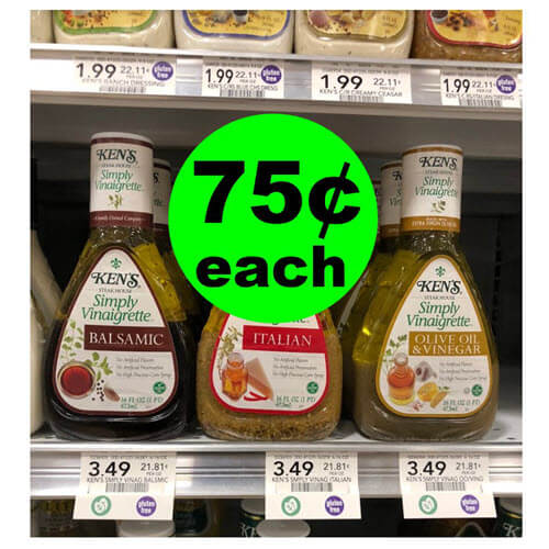 Publix Deal: 75¢ Ken's Simply Vinaigrette Dressing! 🥗 (9/19-9/25 or 9/20-9/26)