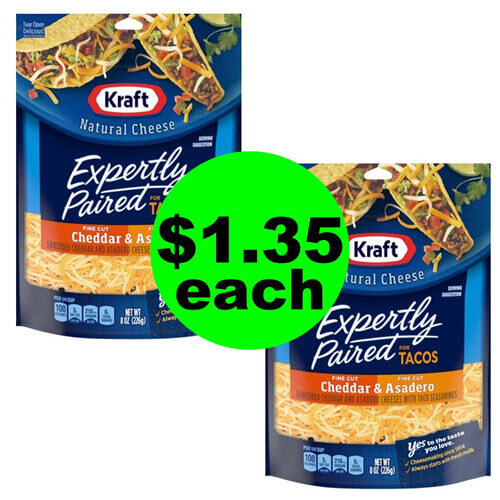 Publix Deal: 🌮 $1.35 Kraft Expertly Paired Shredded Cheese (After Ibotta)! (9/19-9/25 or 9/20-9/26)