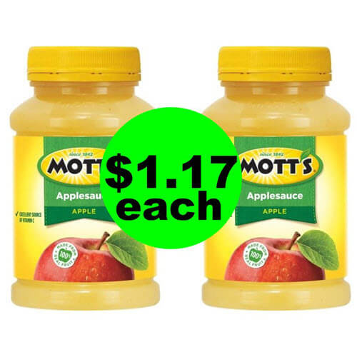 Publix Deal: 🍎 $1.17 Mott's Applesauce Jars! (9/15-9/23)