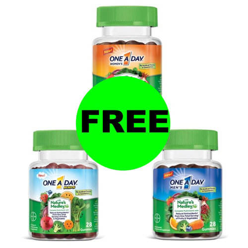 CVS Sneak Peek Deal: 😃 Print For 2 FREE One a Day Nature's Medley Multivitamins! (9/9-9/15)