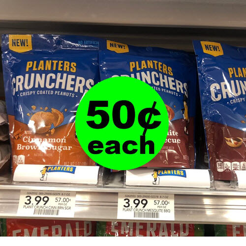 Publix Deal: ? 50¢ Planters Crunchers Snacks (Save 87% Off, After Ibotta)! (9/15-9/28)