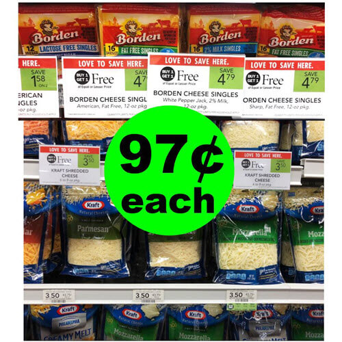 Publix Deal: 🧀 97¢ Borden Cheese Slices & Kraft Shreds Packs (After Ibotta)! (9/23-9/25 or 9/26)