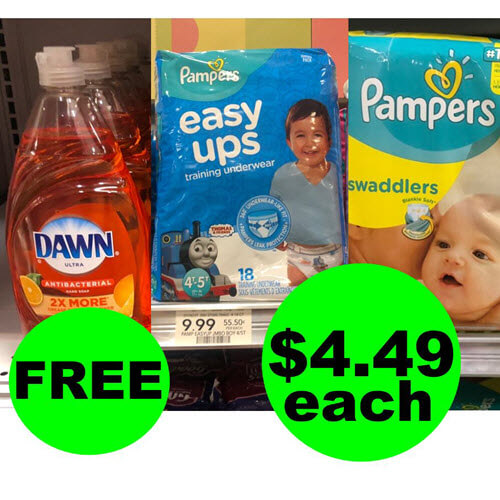 Publix Deal: Just $13.47 for (3) Pampers Diapers & (1) Dawn Dish Soap! (9/12-9/18 or 9/13-9/19)
