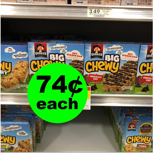 Publix Deal: ? 74¢ Quaker Chewy Bars! (Ends 12/4 or 12/5)