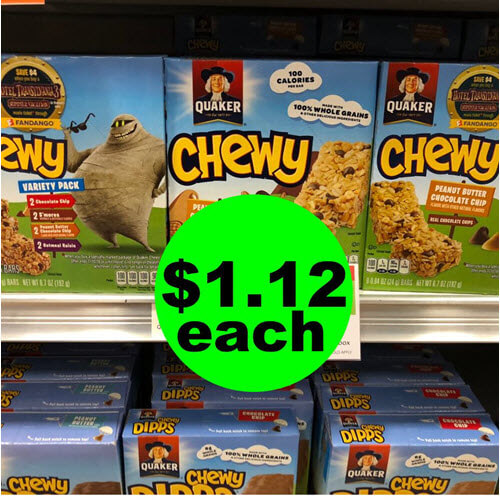 Publix Deal: 😋 $1.12 Quaker Chewy Bars! (9/19-9/25 or 9/20-9/26)