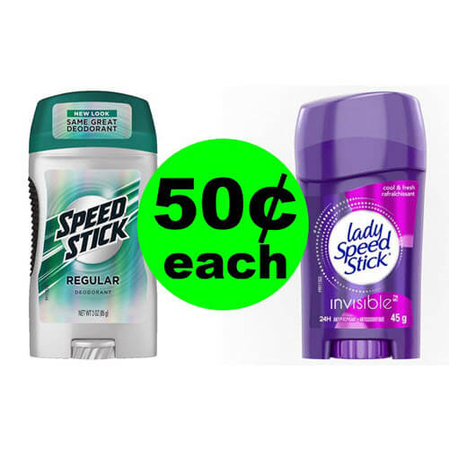 CVS Deal: 🌸 50¢ Speed Stick or Lady Speed Stick Deodorant! (9/9-9/15)
