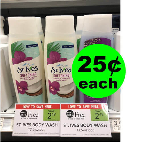 Publix Deal: 25¢ St. Ives Body Wash (After Rebate)! ? (Ends 9/11 or 9/12)
