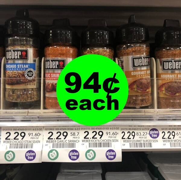 Publix Deal: 🔥 94¢ Weber Seasonings! (Ends 6/7)