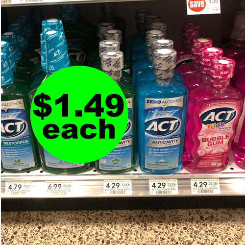 Publix Deal: 😛 $1.49 Act Kids Or Adult Mouthwash (Save 65% Off, After Ibotta)! (6/1-6/14)