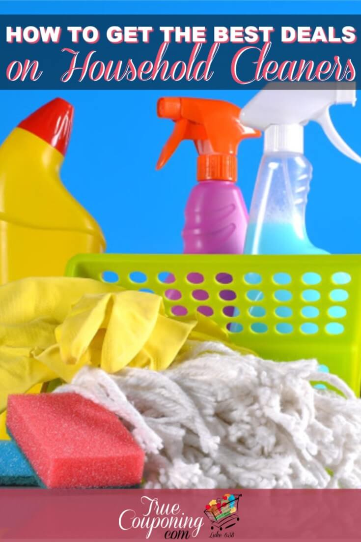 You don't have to use coupons in order to get the best deal on your household cleaners! These tips teach you how and where to look to get a great deal! #cleaninghacks #savingmoney