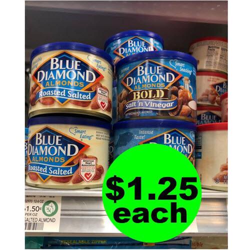 Publix Deal: 😋 $1.25 Blue Diamond Almonds! (10/17-10/23 or 10/18-10/24)