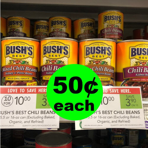 Publix Deal: 50¢ Bush's Chili Beans (After Rebate)! ? (Ends 10/30 or 10/31)