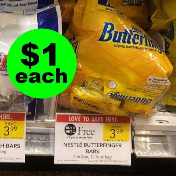 Publix Deal: 😋 $1 Nestle Butterfinger Candy Bags! (Ends 3/5 Or 3/6)
