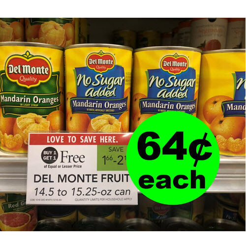 Publix Deal: 🍊 Del Monte Canned Fruit As Low As 64¢ Each! (2/6-2/12 or 2/7-2/13)