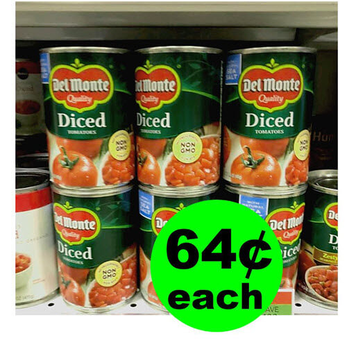 Publix Deal: 🍅 64¢ Del Monte Canned Tomatoes! (Ends 2/12 or 2/13)