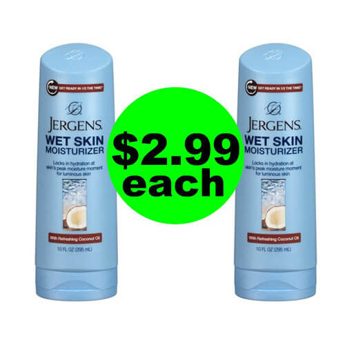 CVS Deal: 👐 $2.99 Jergens Wet Skin Lotions (Save 63% Off)! (10/21-10/27)