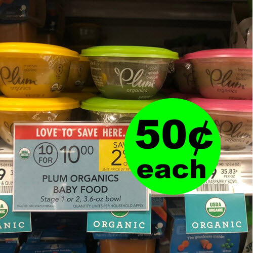Publix Deal: 50¢ Plum Organics Baby Food! ? (Ends 10/16 or 10/17)