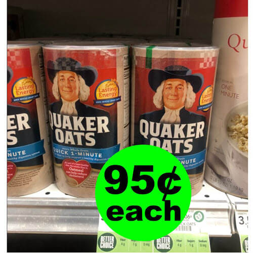 Publix Deal: 🥣 95¢ Quaker Oats Oatmeal! (2/6-2/12 or 2/7-2/13)