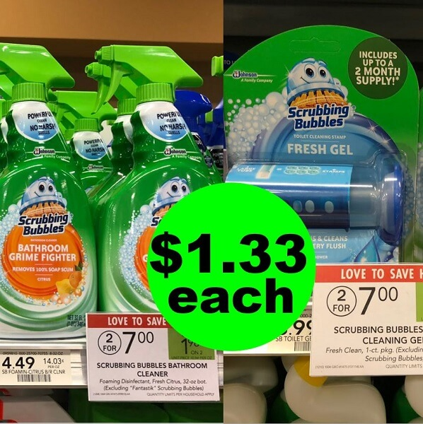 Publix Deal: Print For $1.33 Scrubbing Bubbles Bathroom Cleaners & Toilet Gel! (6/30-7/2 Or 7/3)