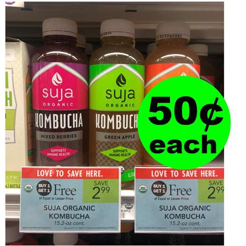 Publix Deal: 🍍 Print For 50¢ Suja Organic Kombucha! (Ends 10/23 or 10/24)