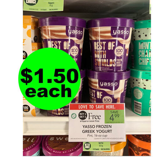 Publix Deal: ? Print Now For $1.50 Yasso Greek Yogurt Pints or Bars (Save 70% Off)! (Ends 10/9 or 10/10)