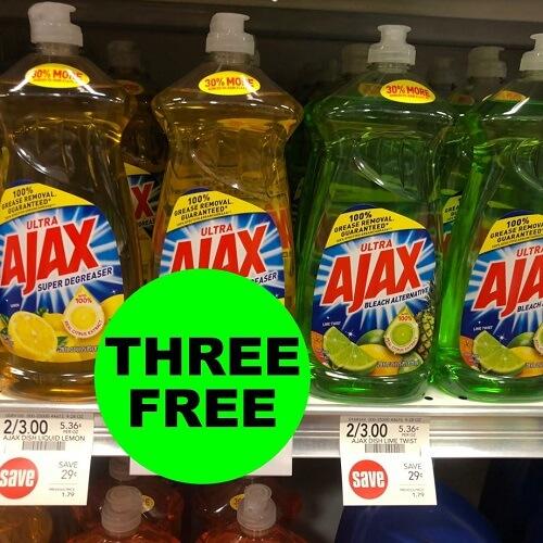 Publix Deal: ✨ (3) FREE Ajax Dish Soaps (After Ibotta)! (Ends 12/14)