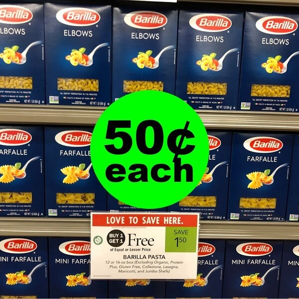 Publix Deal: 🍝 50¢ Barilla Pasta! (Ends 3/5 Or 3/6)