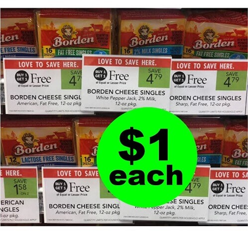 Publix Deal: ? Borden Cheese Singles As Low As $1 Each! (Ends 12/11 or 12/12)
