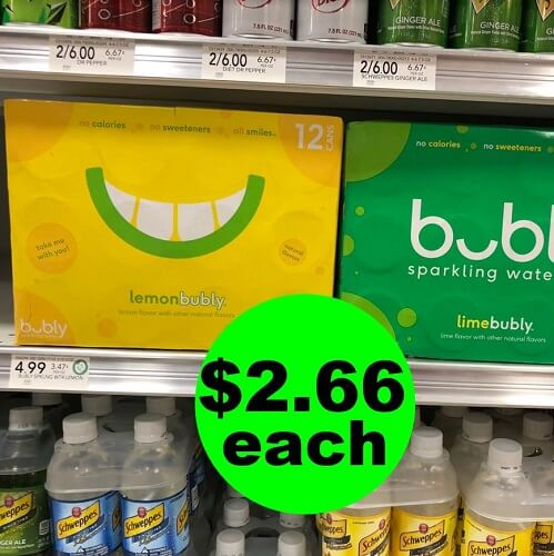 Publix Deal: 🥤 $2.66 Bubly Sparkling Water Multipacks! (Ends 1/15 or 1/16)