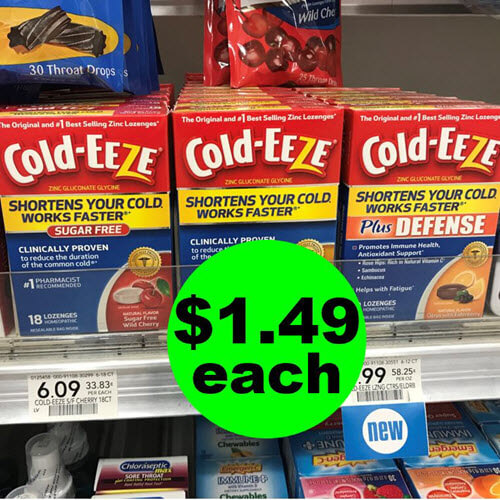 Publix Deal: ? $1.49 Cold-Eeze Lozenges (Save 79% Off)! (11/3-11/16)