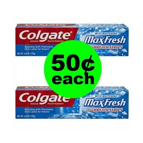 CVS Deal: 😁 50¢ Colgate Toothpastes! (12/9-12/15)