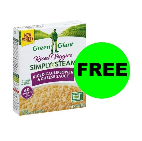Sneak Peek Publix Deal: (2) FREE Green Giant Simply Steam Riced Veggies! (3/25-3/31 Or 3/26-4/1)