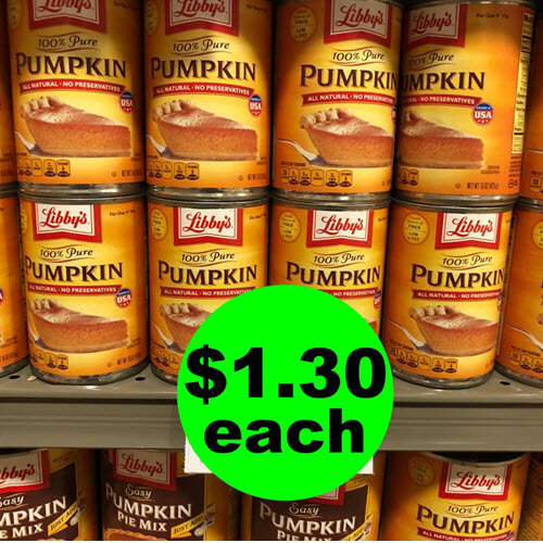 Publix Deal: ? $1.30 Libby's Canned Pumpkin!